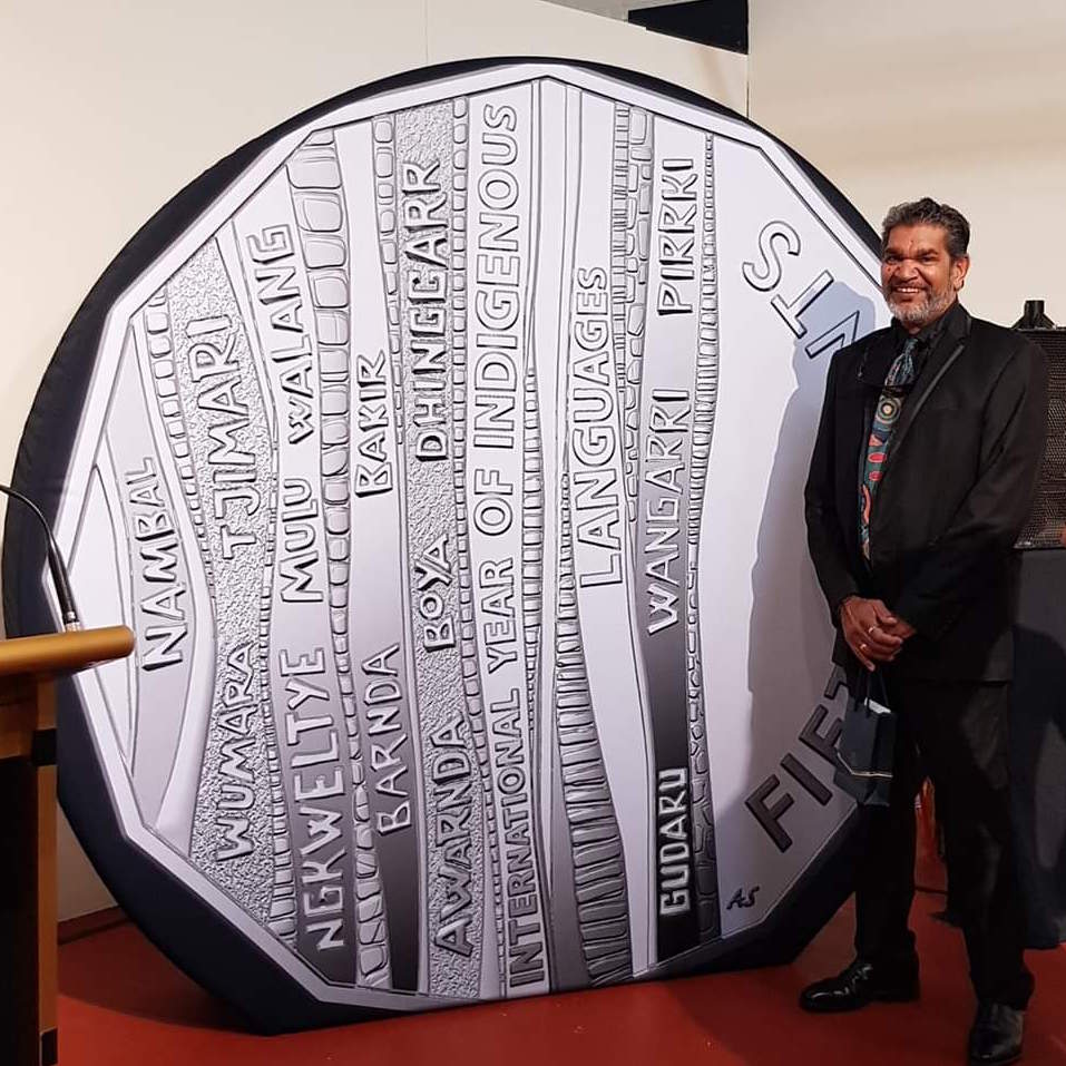 2019 International Year of Indigenous Languages coin produced by the Royal Australian Mint.